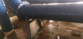 DN350高压电磁流量计标定中